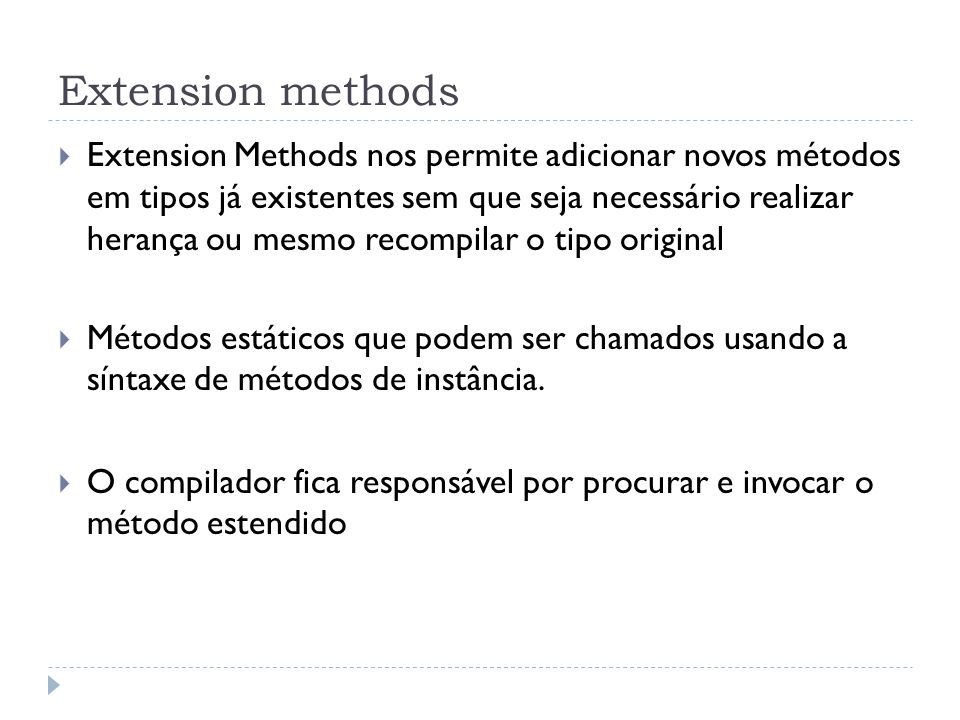 Extension methods