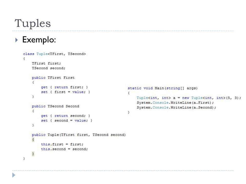 Tuples Exemplo: