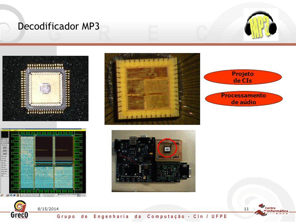 Decodificador MP3 Projeto de CIs Processamento de aúdio 4/5/2017