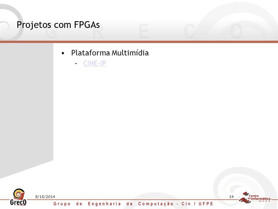 Projetos com FPGAs Plataforma Multimídia CINE-IP 4/5/2017