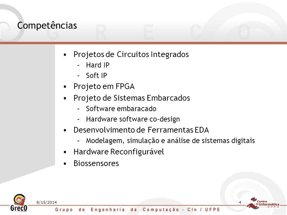 Competências Projetos de Circuitos Integrados Projeto em FPGA