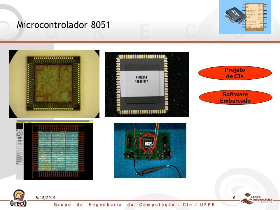 Microcontrolador 8051 Projeto de CIs Software Embarcado 4/5/2017
