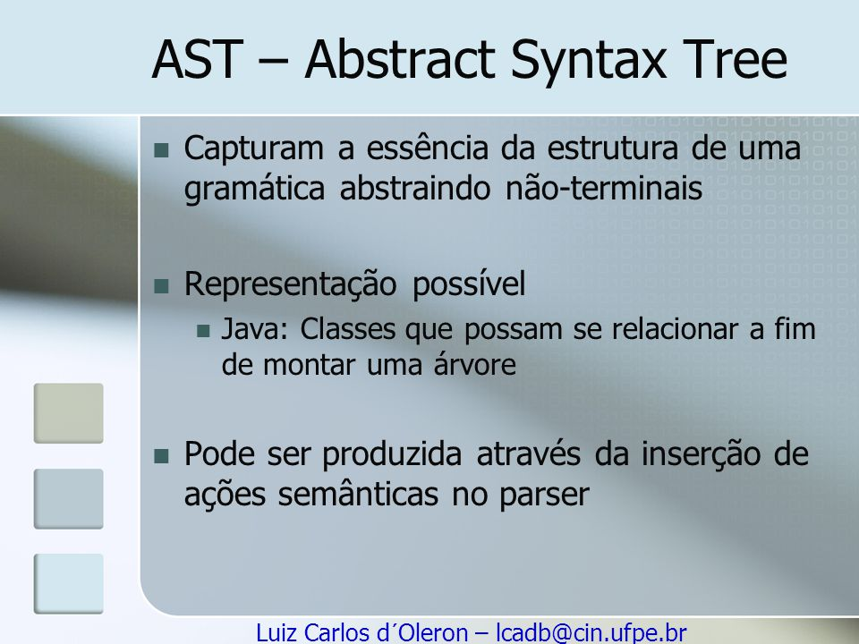 AST – Abstract Syntax Tree