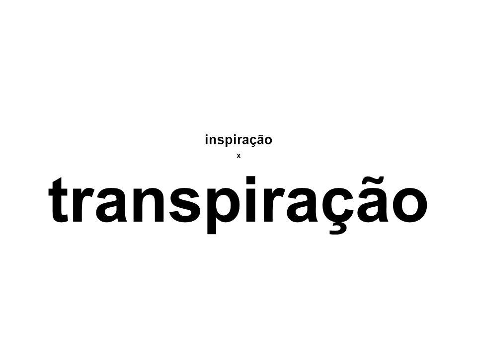 inspiração x transpiração
