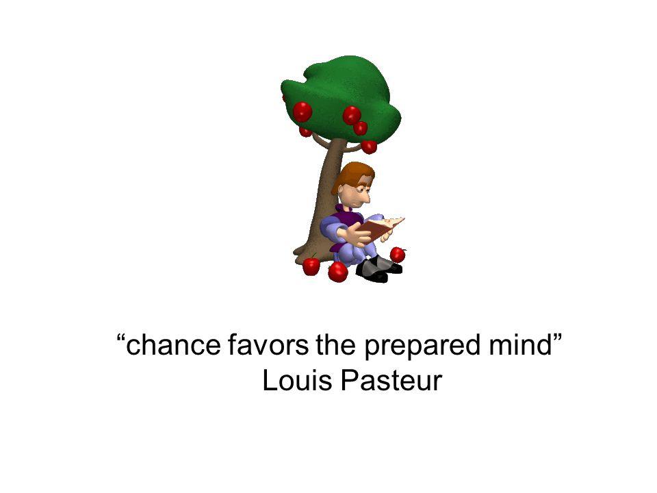 chance favors the prepared mind Louis Pasteur