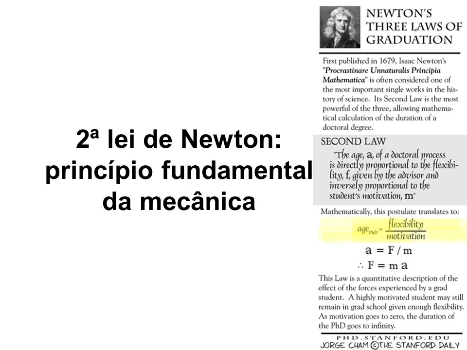 2ª lei de Newton: princípio fundamental da mecânica