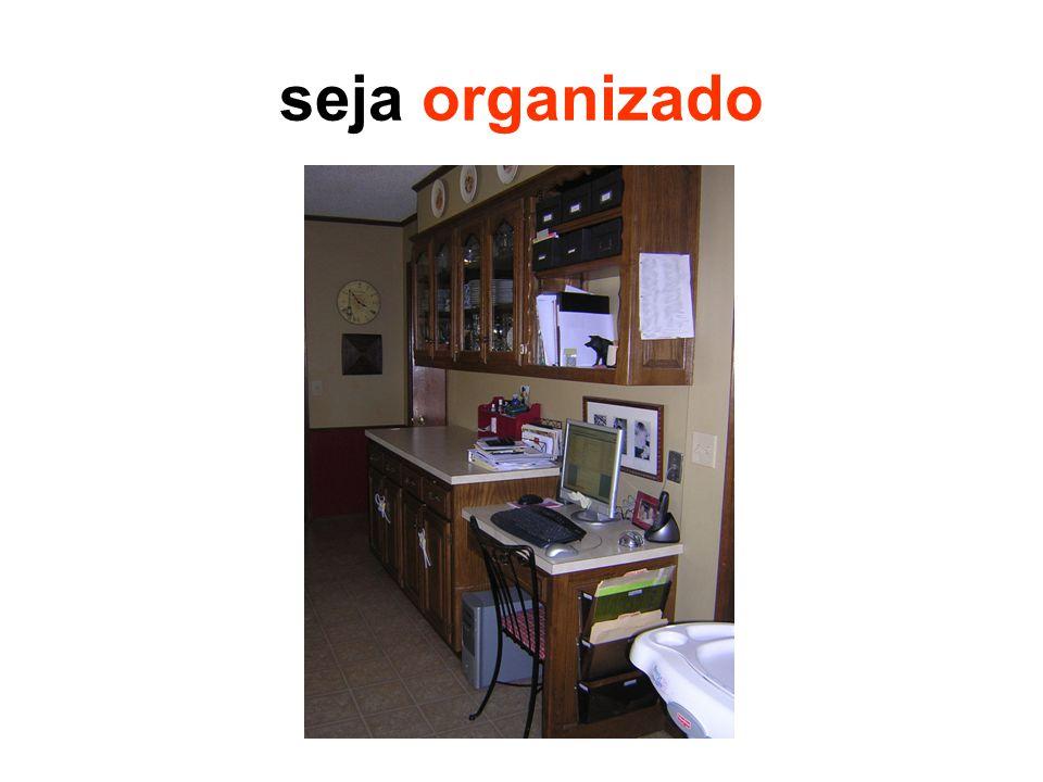 seja organizado Mestrado é sobre organização e disciplina