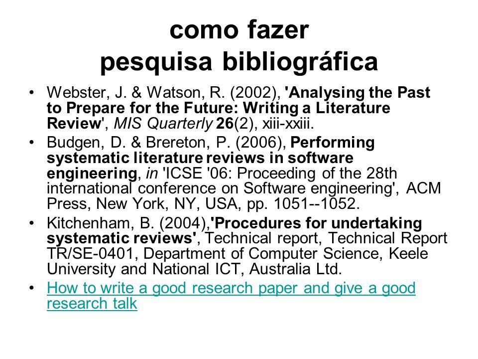 como fazer pesquisa bibliográfica