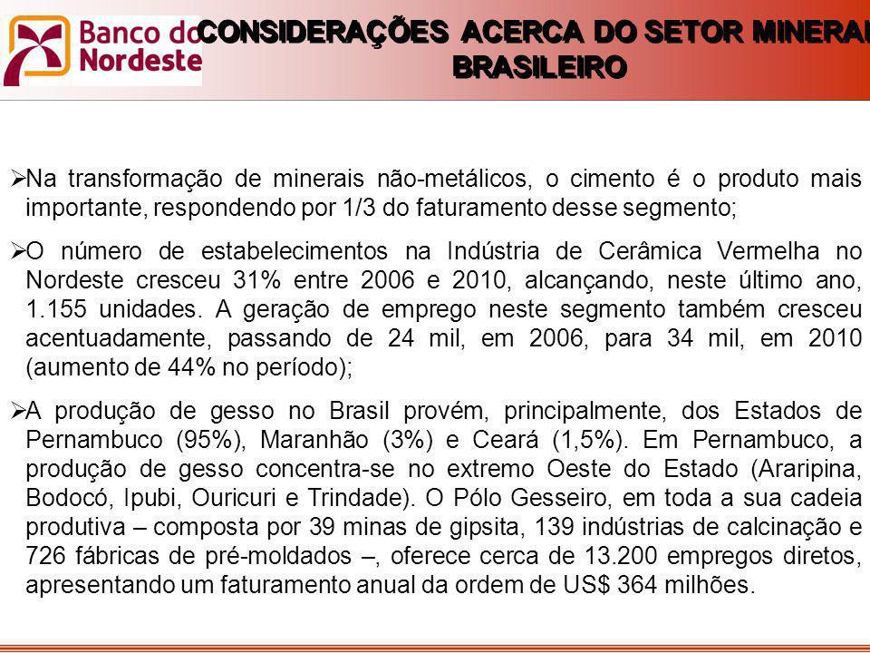 CONSIDERAÇÕES ACERCA DO SETOR MINERAL BRASILEIRO