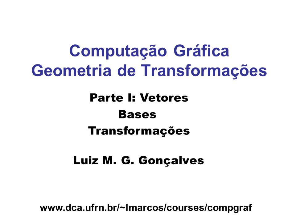 Computação Gráfica Geometria de Transformações