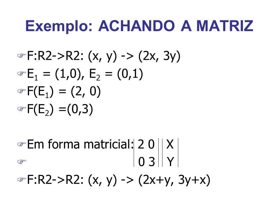 Exemplo: ACHANDO A MATRIZ