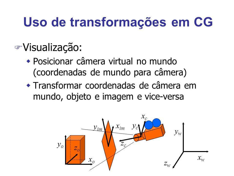 Uso de transformações em CG
