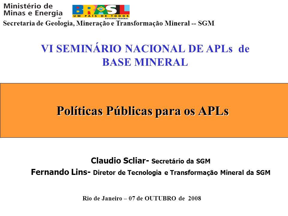 Políticas Públicas para os APLs