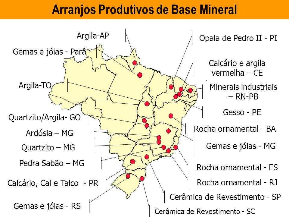 Arranjos Produtivos de Base Mineral