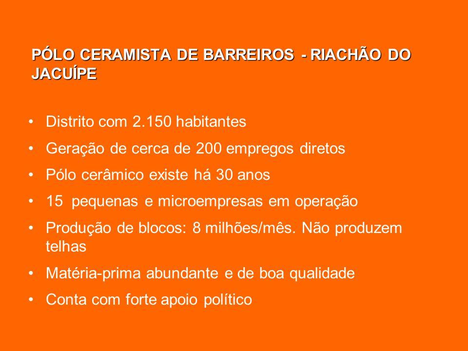 PÓLO CERAMISTA DE BARREIROS - RIACHÃO DO JACUÍPE
