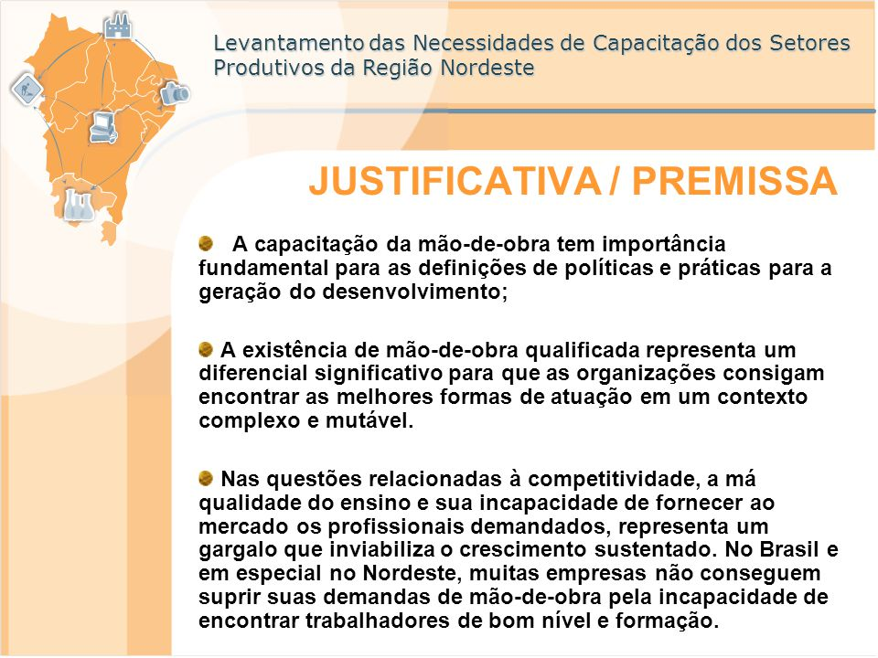 JUSTIFICATIVA / PREMISSA