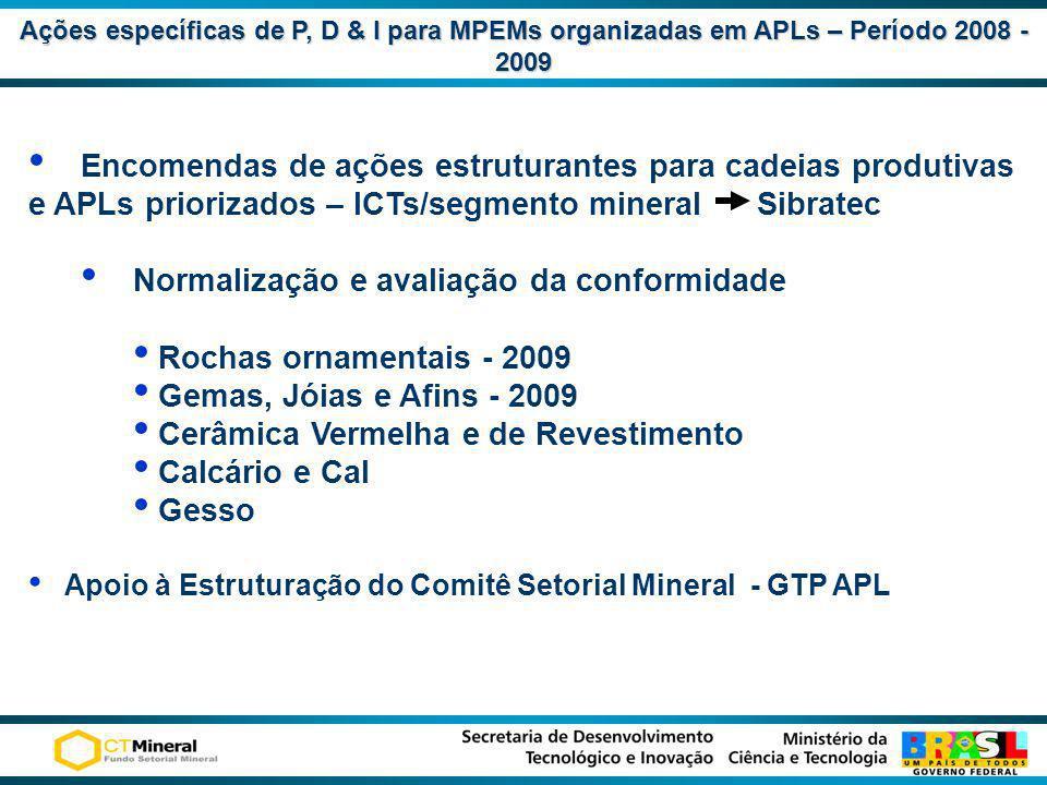 Normalização e avaliação da conformidade Rochas ornamentais - 2009