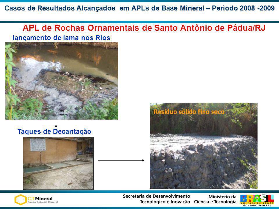 APL de Rochas Ornamentais de Santo Antônio de Pádua/RJ
