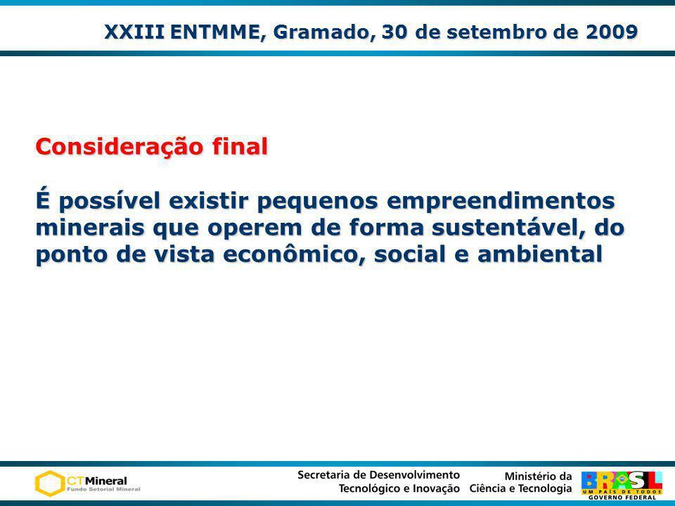 XXIII ENTMME, Gramado, 30 de setembro de 2009