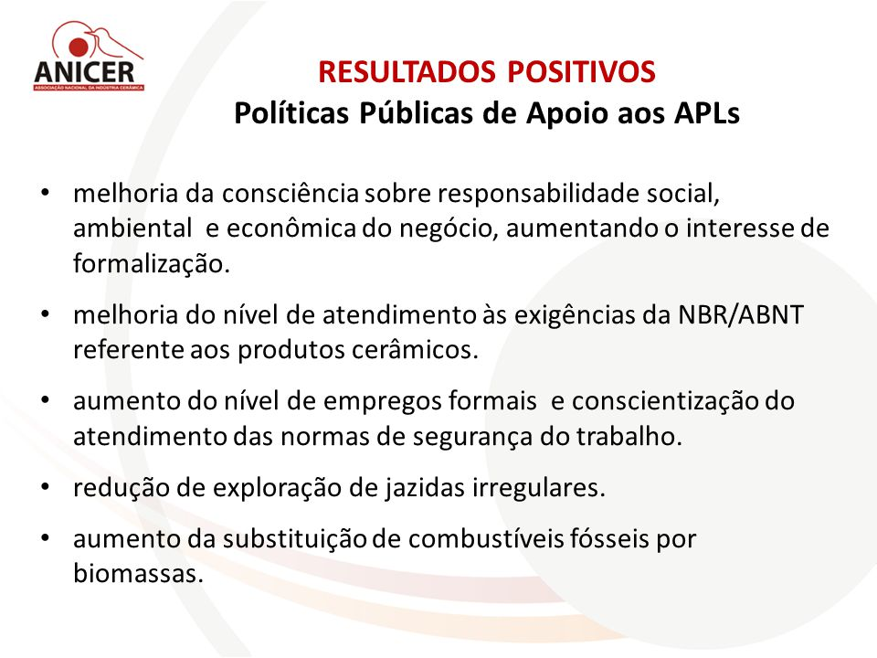 Políticas Públicas de Apoio aos APLs