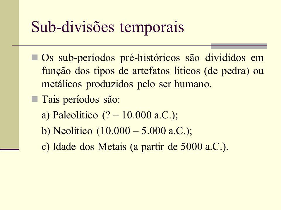 Sub-divisões temporais