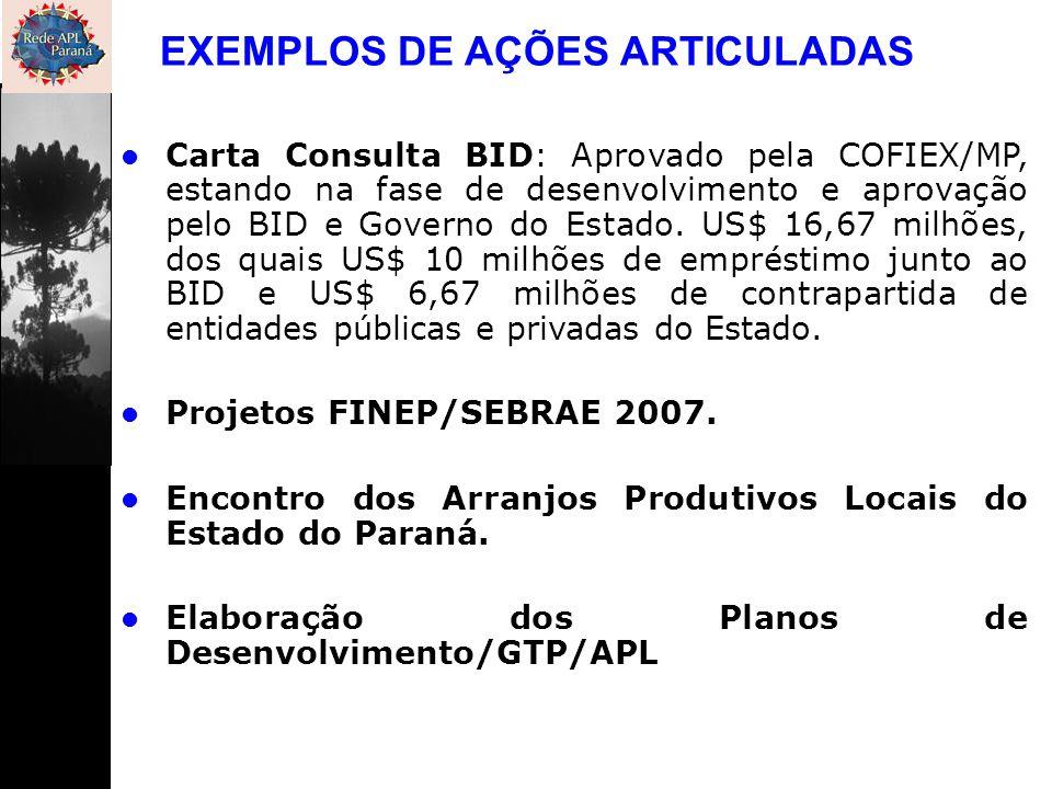EXEMPLOS DE AÇÕES ARTICULADAS