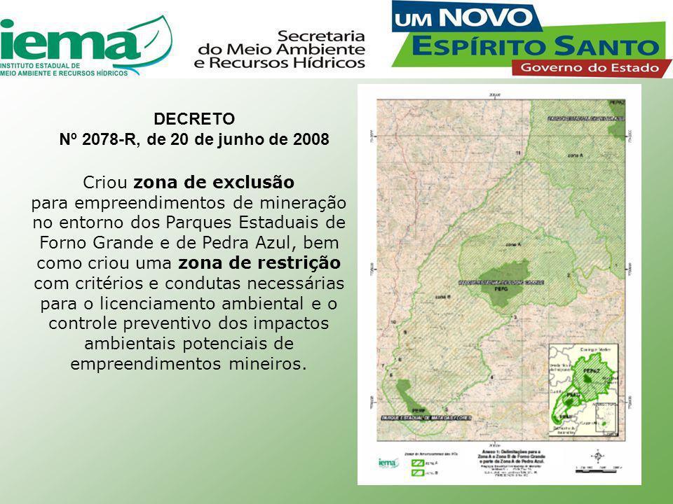 DECRETO Nº 2078-R, de 20 de junho de 2008