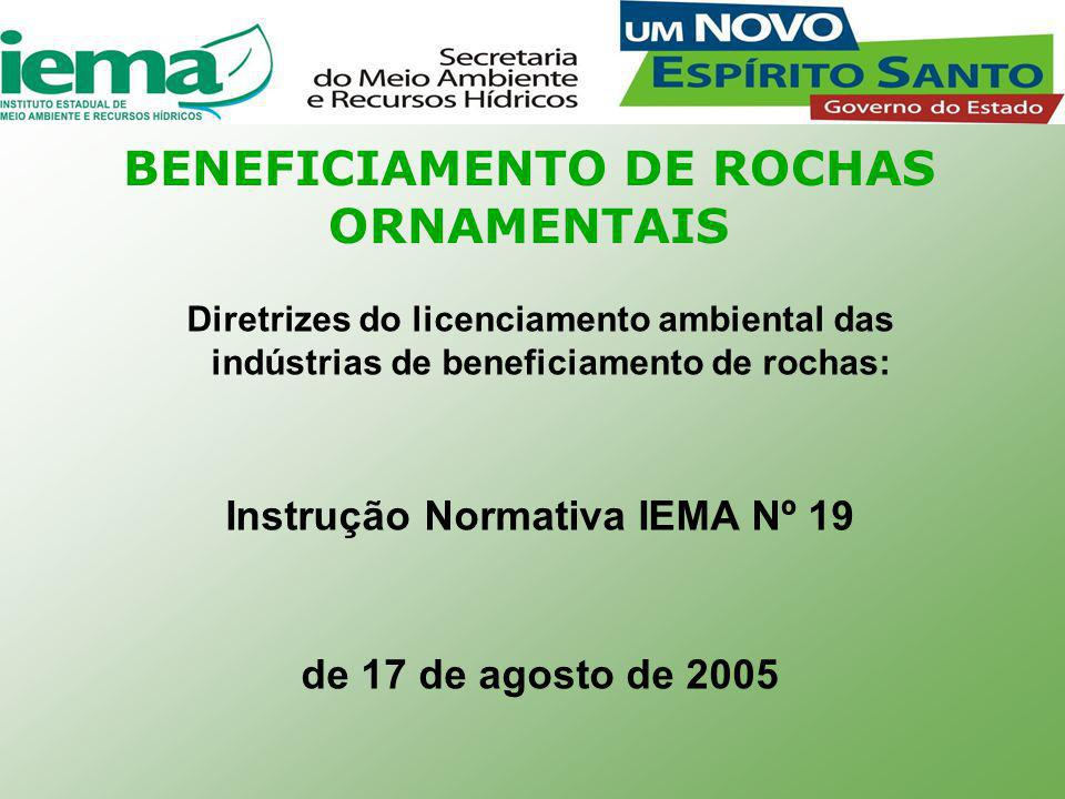 BENEFICIAMENTO DE ROCHAS ORNAMENTAIS