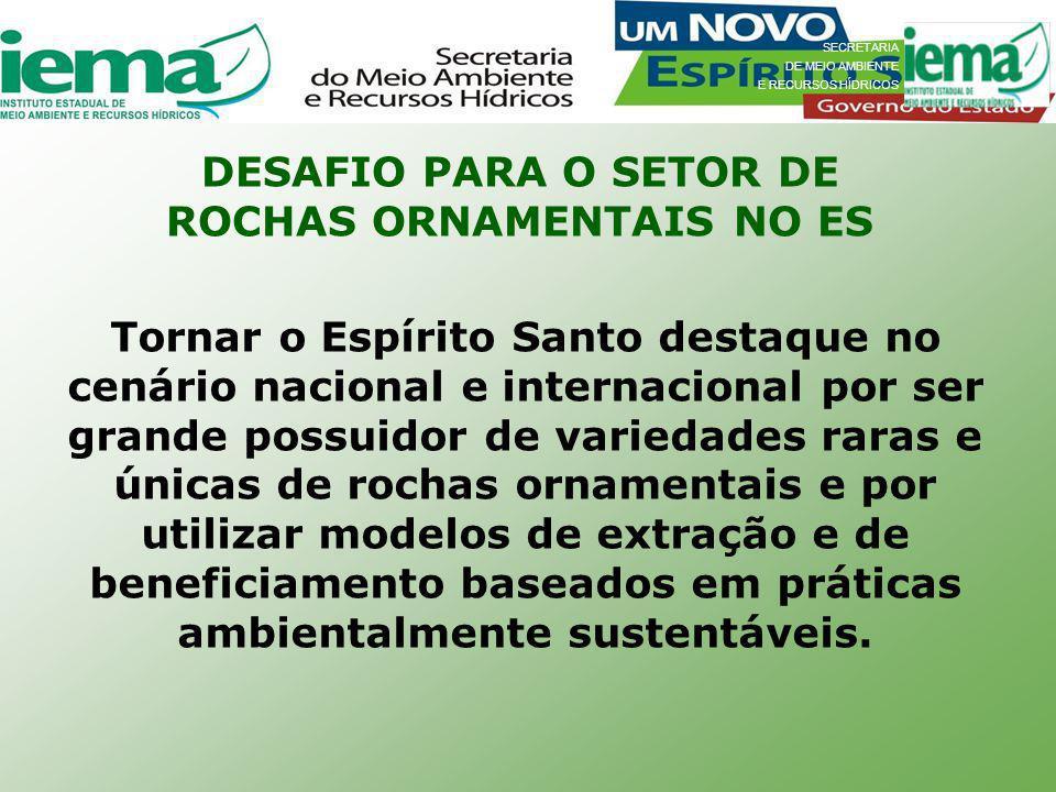 DESAFIO PARA O SETOR DE ROCHAS ORNAMENTAIS NO ES