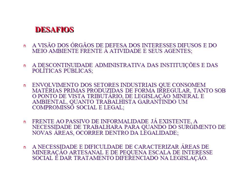 DESAFIOS A VISÃO DOS ÓRGÃOS DE DEFESA DOS INTERESSES DIFUSOS E DO MEIO AMBIENTE FRENTE À ATIVIDADE E SEUS AGENTES;