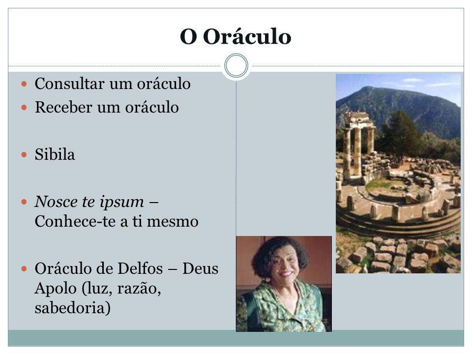 O Oráculo Consultar um oráculo Receber um oráculo Sibila