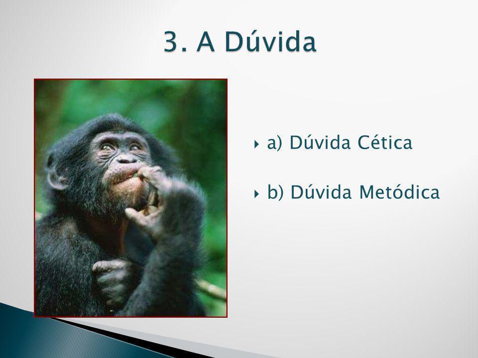 3. A Dúvida a) Dúvida Cética b) Dúvida Metódica