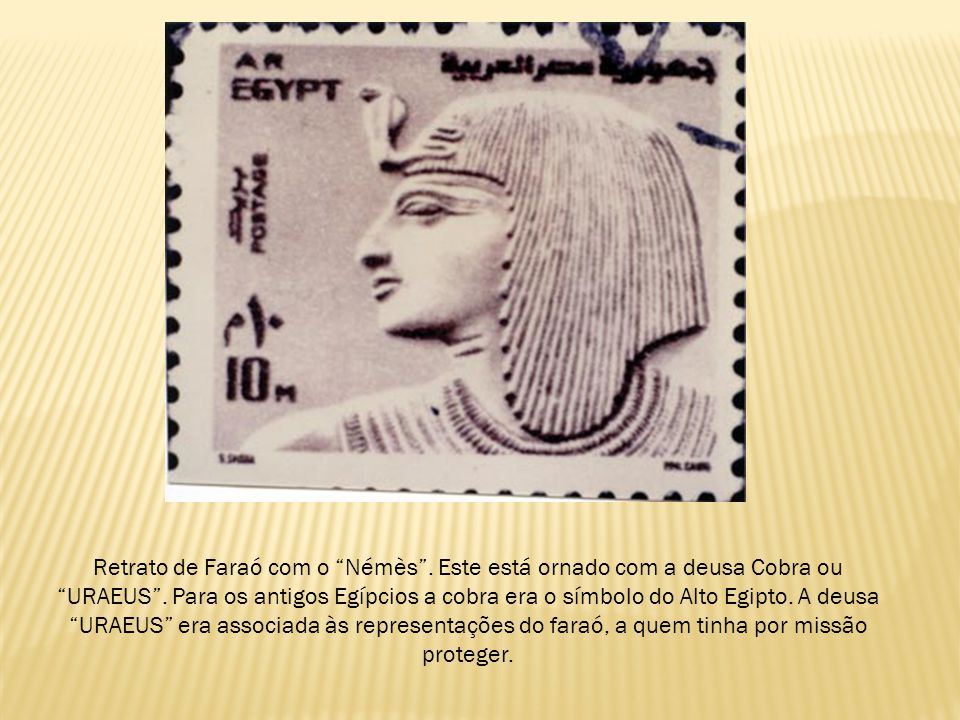 Retrato de Faraó com o Némès