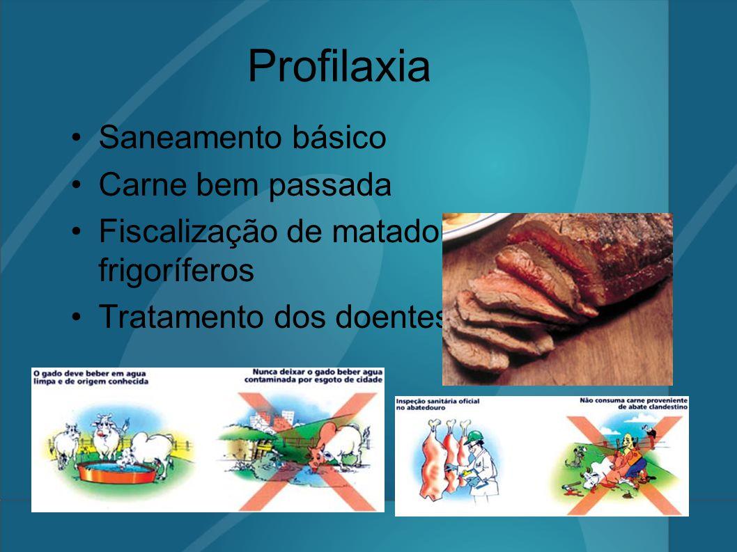 Profilaxia Saneamento básico Carne bem passada