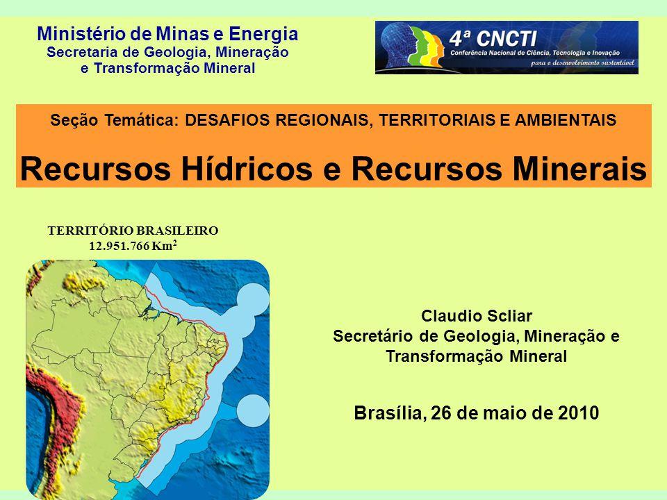 Recursos Hídricos e Recursos Minerais