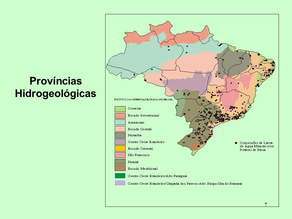 Províncias Hidrogeológicas