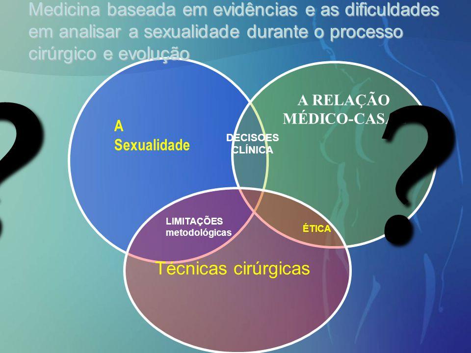 Medicina baseada em evidências e as dificuldades em analisar a sexualidade durante o processo cirúrgico e evolução