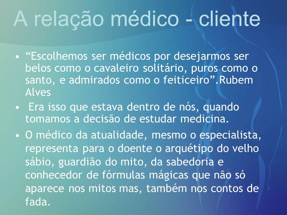A relação médico - cliente