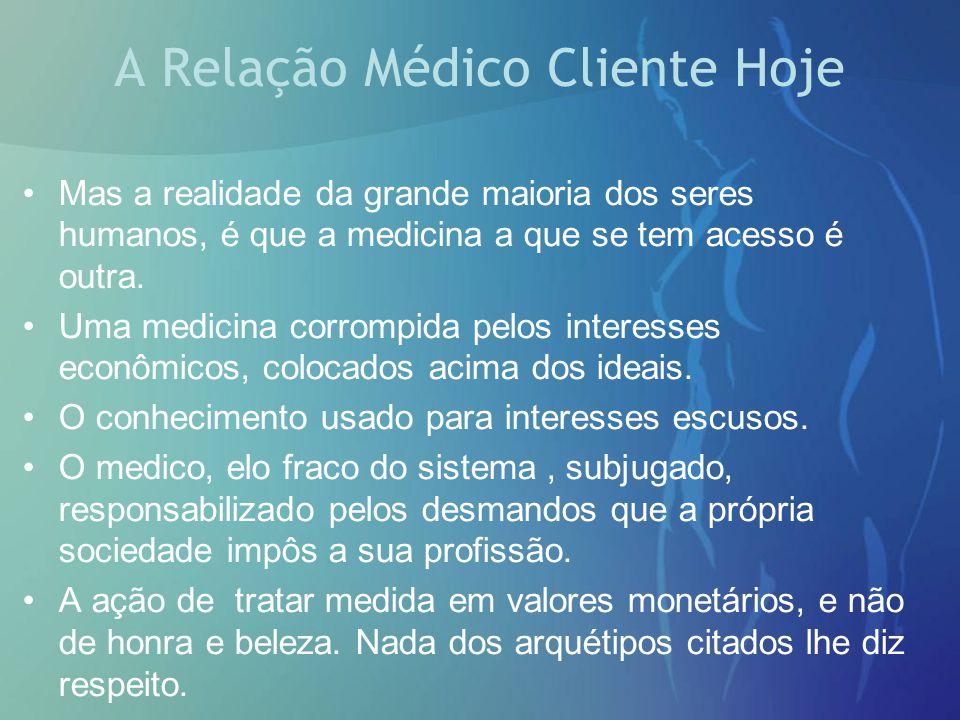 A Relação Médico Cliente Hoje