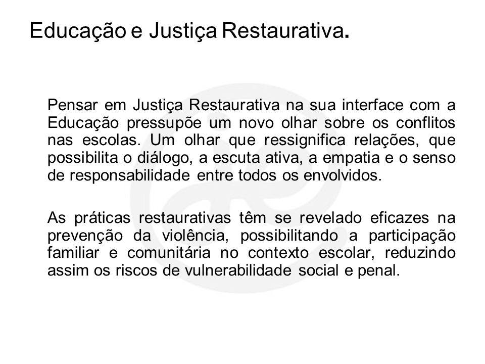 Educação e Justiça Restaurativa.