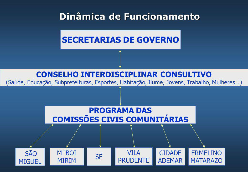 PROGRAMA DAS COMISSÕES CIVIS COMUNITÁRIAS