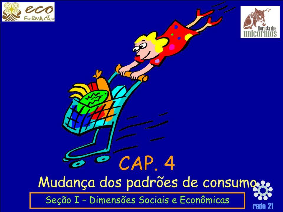 CAP. 4 Mudança dos padrões de consumo