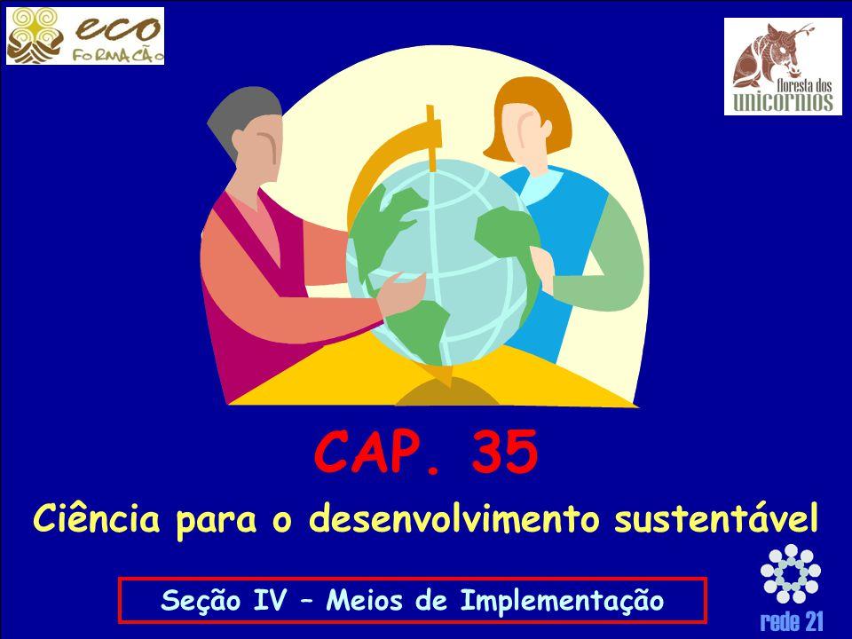 CAP. 35 Ciência para o desenvolvimento sustentável