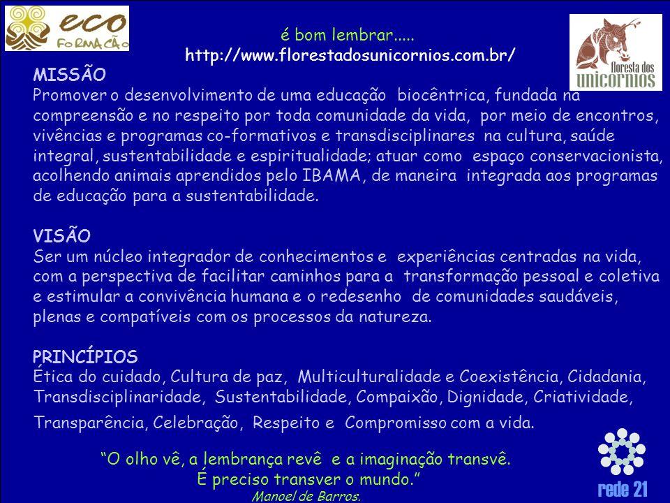 é bom lembrar..... http://www.florestadosunicornios.com.br/