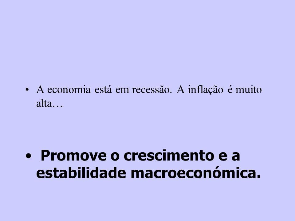 Promove o crescimento e a estabilidade macroeconómica.
