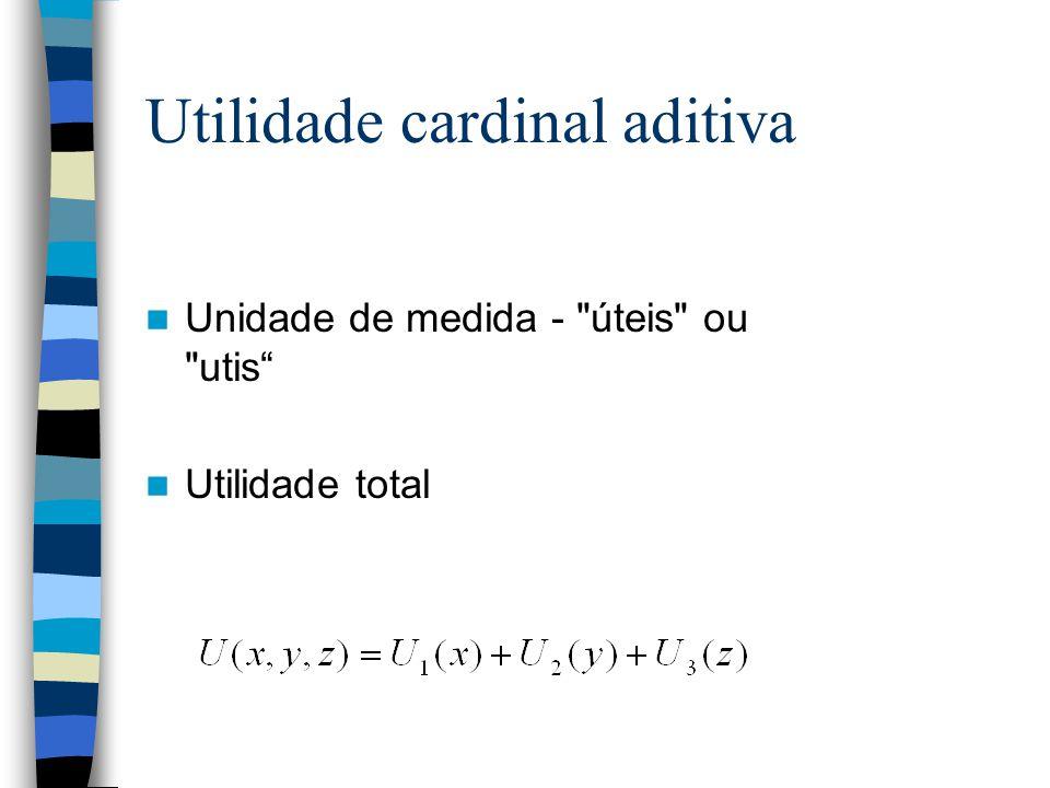 Utilidade cardinal aditiva