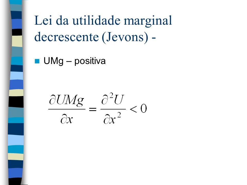 Lei da utilidade marginal decrescente (Jevons) -