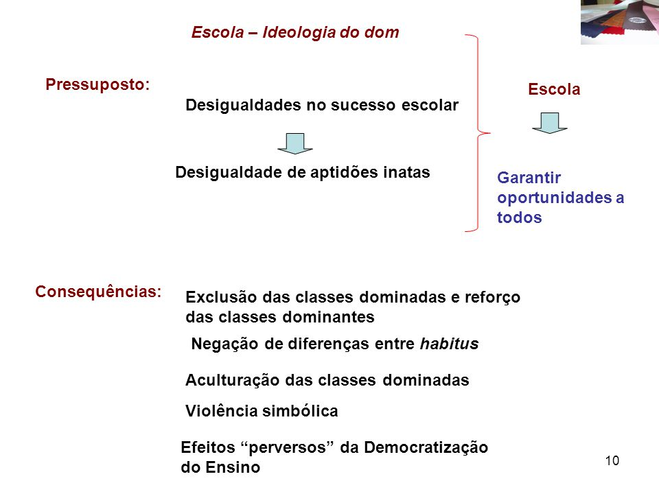 Escola – Ideologia do dom