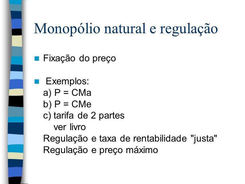 Monopólio natural e regulação