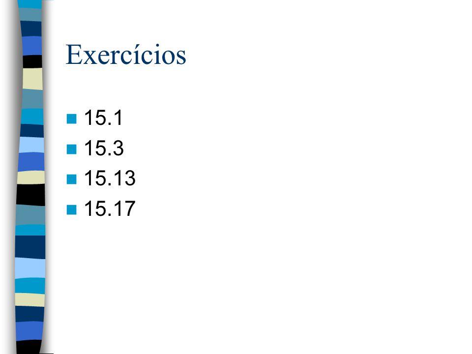 Exercícios 15.1 15.3 15.13 15.17